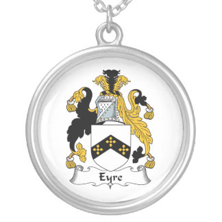 Eyre Family Crest Round Pendant Necklace