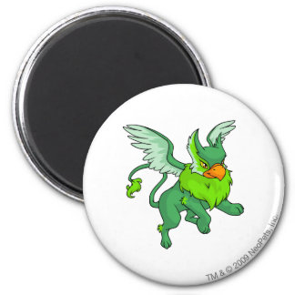 Eyrie Green 2 Inch Round Magnet
