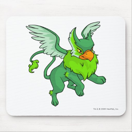 Eyrie Green Mouse Pads