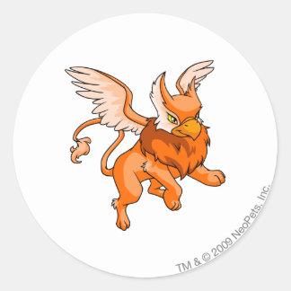 Eyrie Orange Classic Round Sticker