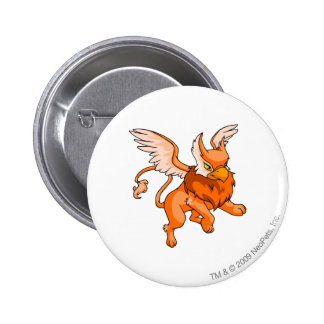 Eyrie Orange Pinback Button