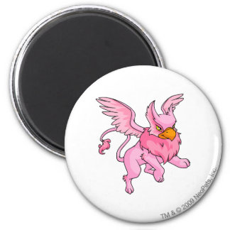 Eyrie Pink 2 Inch Round Magnet