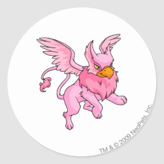 Eyrie Pink Classic Round Sticker