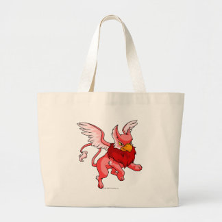 Eyrie Red Large Tote Bag