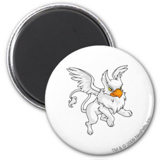 Eyrie White 2 Inch Round Magnet