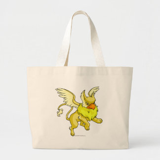 Eyrie Yellow Large Tote Bag