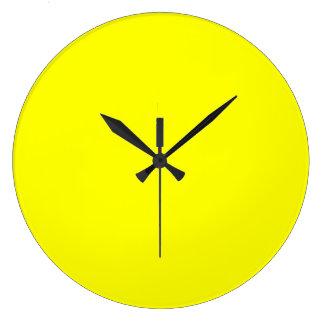 EZ-C Bold Yellow Large Wall Clock