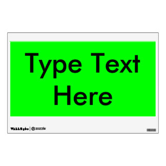 EZ-C Bright Green Temporary/Reusable Sign/ Wall Decal