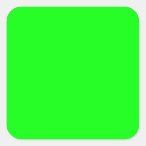 EZ-C Bright Green Toiletry Labels/ Square Sticker
