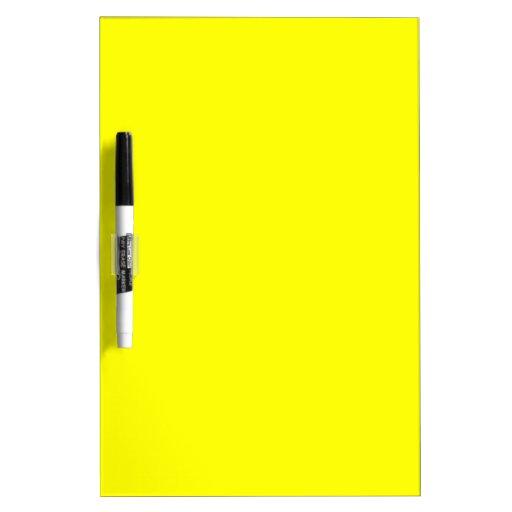 EZ-C Bright Yellow Dry Erase Board