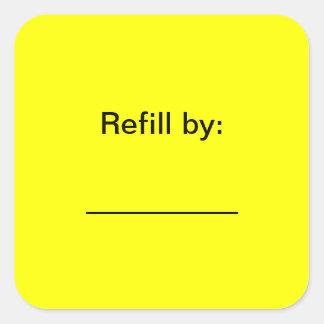 EZ-C Bright Yellow Prescription Refill Sticker