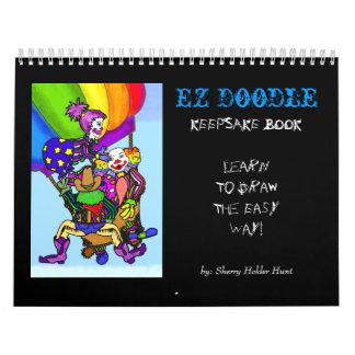 EZ Doodle KEEPSAKE Book Wall Calendar