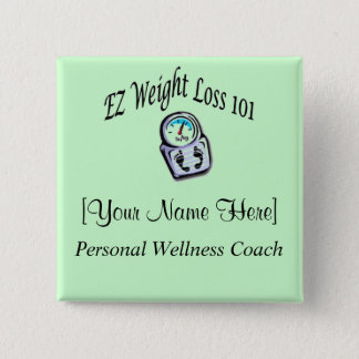 EZ Weight Loss 101 - Name Badge Pinback Button