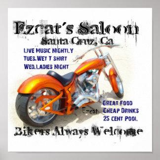 Ezcat's Saloon Poster