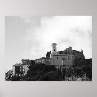 Eze Fortress Ruins Poster