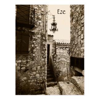 Eze, Provence, una postal de la calle tranquila
