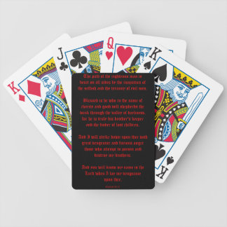 Ezekial 25:17 Black and Red Bicycle Playing Cards