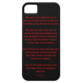 Ezekial 25:17 Black and Red iPhone SE/5/5s Case
