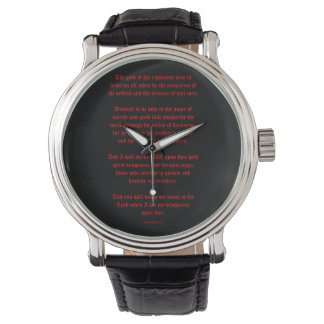 Ezekial 25:17 Black and Red Watch