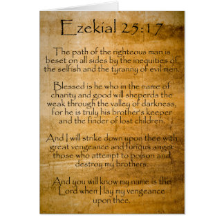 Ezekial 25:17 (Weathered) Card