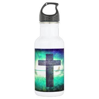Ezekiel 36:26 Inspirational Bible Verse Stainless Steel Water Bottle