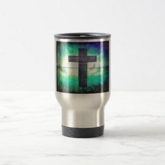 Ezekiel 36:26 Inspirational Bible Verse Travel Mug