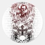 Ezekiel 37 classic round sticker