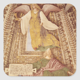 Ezekiel and Angel holding chalice of the Square Sticker