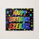 "[ Thumbnail: ""Ezekiel"" First Name, Fun ""Happy Birthday"" Jigsaw Puzzle ]"