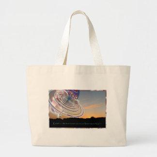 Ezekiel's Wheel at Sunset Jumbo Tote Bag