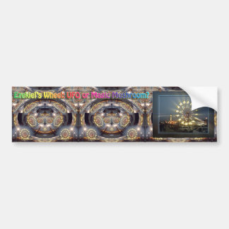 Ezekiel's Wheel: UFO or Magic Mushroom? Bumper Stickers