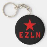 EZLN - Ejército Zapatista de Liberación Nacional Llavero Redondo Tipo Pin