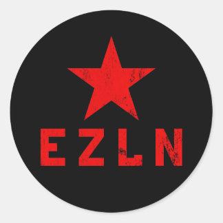 EZLN - Ejército Zapatista de Liberación Nacional Pegatina Redonda