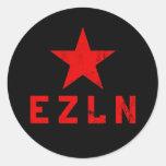 EZLN - Ejército Zapatista de Liberación Nacional Round Stickers