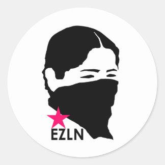EZLN PEGATINA REDONDA