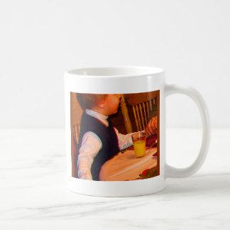 Ezra 3 yr prays grace at Christmas--watercolor sat Coffee Mugs