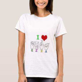 EZRA FINGERSPELLED ASL NAME T-Shirt