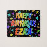 """[ Thumbnail: """"Ezra"""" First Name, Fun """"Happy Birthday"""" Jigsaw Puzzle ]"""