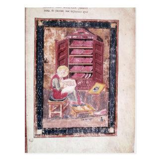 Ezra writing the sacred books postcard