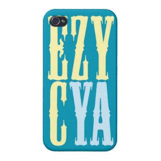 """""""EZY CYA """" iPhone 4/4S FUNDAS"""