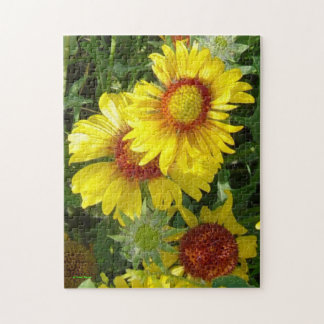 F0006 Yellow Wildflowers Puzzle