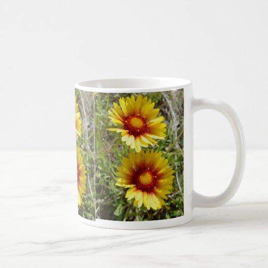 F0008 Yellow Wildflower Duet Coffee Mug