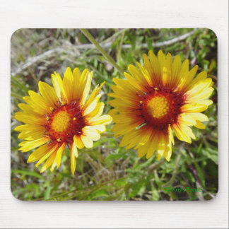 F0008 Yellow Wildflower Duet Mouse Pad