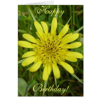 F0009 Yellow Wildflower Goat's-beard Greeting Card