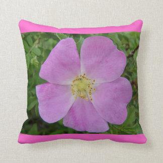 F0011 Wild Rose (rosa arkansana) Throw Pillow