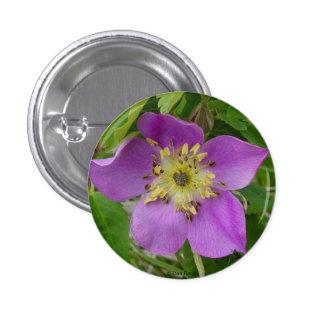 F0013 Alberta Wild Rose Prickly Rose Button