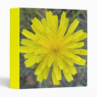 F0016 Yellow Wildflower King Devil Vinyl Binders