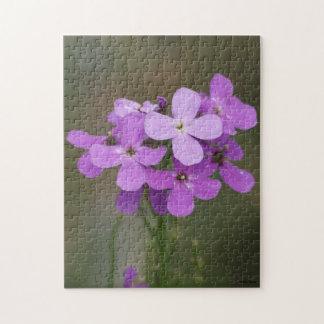 F0019 Purple Wildflowers Hesperis Matronalis Jigsaw Puzzle