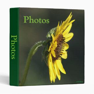 F0043 Yellow Wildflower Black-eyed Susan Vinyl Binder