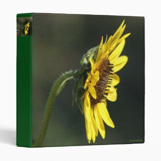 F0043 Yellow Wildflower Black-eyed Susan 3 Ring Binders